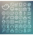 Communication and transportaion icon set Retina vector image vector image