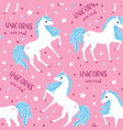 cute seamless pattern with unicorn blue mane on a vector image vector image