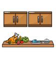 delicious food cartoon vector image