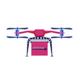 delivery drone express delivery air service vector image vector image