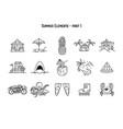 design various summer symbols vector image vector image