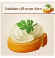 Detailed Icon Sandwich with cream cheese vector image vector image