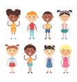 Different kids vector image vector image
