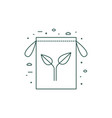 eco friendly grocery bag icon in line art vector image vector image