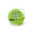 Ecological natural organic label vector image