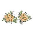 floral bouquet design set green forest leaf vector image vector image