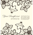 floral lace vector image vector image