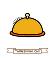 food tray icon harvest thanksgiving vector image