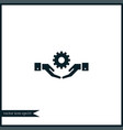 gear on hand icon simple vector image vector image