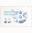hand drawn food poster design background vector image