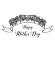happy mother day gretting card vector image
