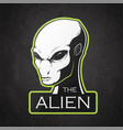 head of alien vector image vector image