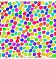 irregular dots rainbow pattern vector image vector image
