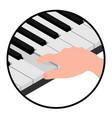 isometric logo hands pianist vector image vector image