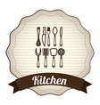 kitchen design vector image vector image