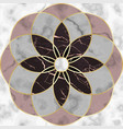 marble mosaic seamless patterns with round vector image vector image