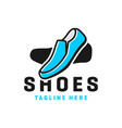 mens shoes modern logo vector image
