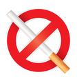 No smoking Isolated on white background vector image