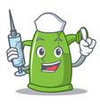 nurse watering can character cartoon vector image vector image