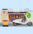 online order and fast food delivery with vector image vector image