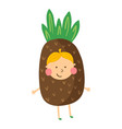 pineapple boy vector image