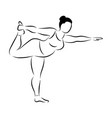 plus size flexible sporty woman doing yoga fitness vector image