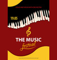 poster music festival concept style paper vector image vector image