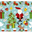Santa Claus Christmas pattern vector image vector image