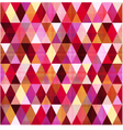 seamless geometric red pattern vector image vector image