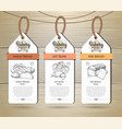 set of restaurant labels bakery menu design vector image