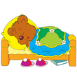 sleeping bear vector image vector image