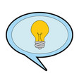 speech bubble with bulb vector image vector image
