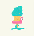 summer sweets color ice cream design icon vector image