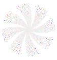 test tube fireworks swirl flower vector image vector image