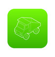 toy truck icon green vector image vector image