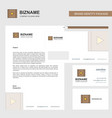 video business letterhead envelope and visiting vector image vector image