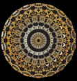 vintage baroque mandala pattern ornamental greek vector image vector image