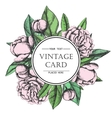 Vintage elegant card with peony flowers vector image vector image