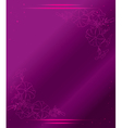 violet card with flowers and gradient vector image vector image