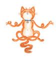 watercolor cat vector image