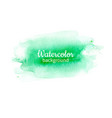 watercolor geen abstract hand painted background vector image vector image