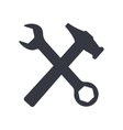 Wrench and hammer isolated on white background vector image vector image