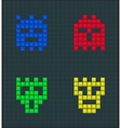 Color monsters set vector image