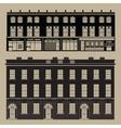 Monochrome english terrace houses vector image