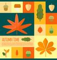 autumn foliage in flat styl vector image