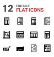 12 accounting icons vector image vector image