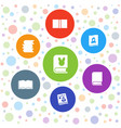7 read icons vector image vector image