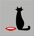 abstract cat and milk vector image