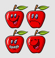 apple emoticon icon cartoon character vector image vector image