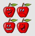 apple emoticon icon cartoon character vector image